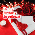 Home : Birthday : For Husband & Wife - Romantic Birthday Greetings Sweetheart