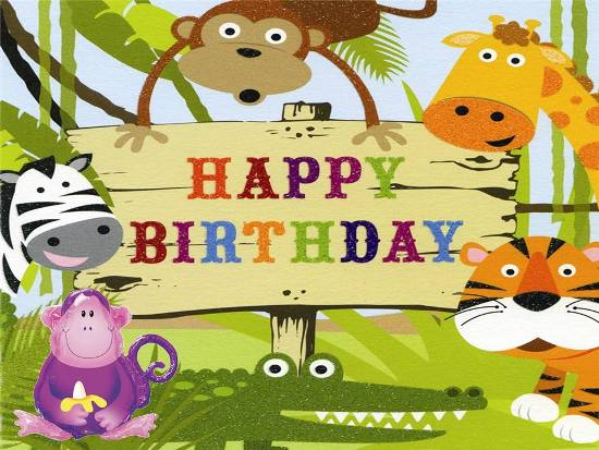 Cute Birthday Card For Young Ones Free For Kids eCards Greeting – Birthday Card for Child