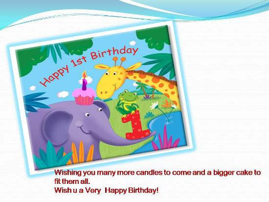 Greetings On A Childs 1st Birthday