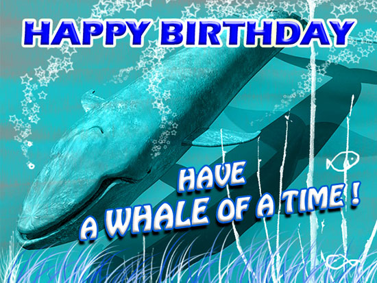Have A Whale Of A Birthday Free For Kids Ecards Greeting
