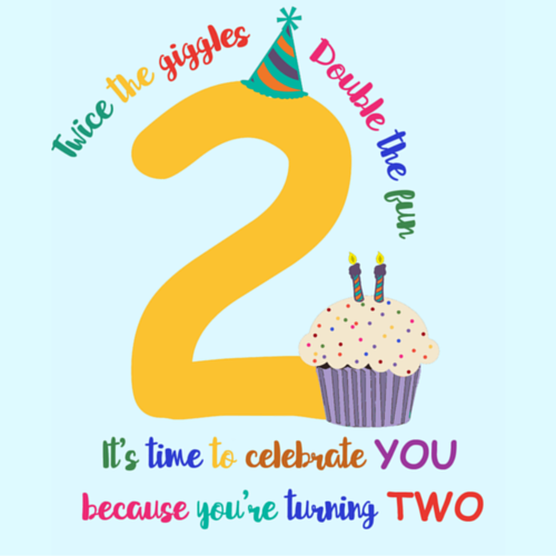 Happy 2nd Birthday Free For Kids ECards Greeting Cards