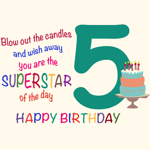 Fantastic Five Year Old Free For Kids Ecards Greeting Happy 5th Birthday Wishes For
