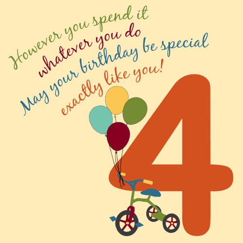 For A Special 4 Year Old!