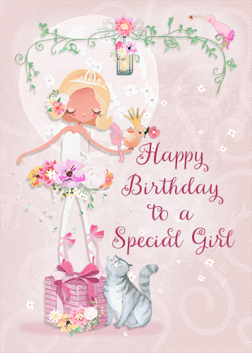 Happy Birthday To A Special Girl. Free For Kids ECards