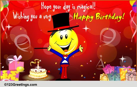 a magical day free for kids ecards, greeting cards   greetings, Birthday card