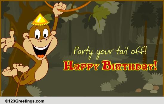 Free Singing Birthday Cards For Grandson Party Your Tail Off Kids Ecards Greeting