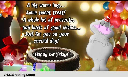 A Big Warm Hug On Your Birthday Free For Kids Ecards