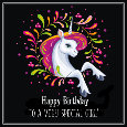Unicorn Says Happy Birthday To Girl!