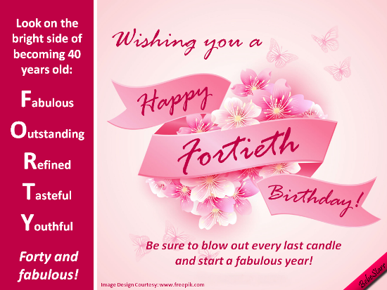 Forty And Fabulous Free Milestones Ecards Greeting Cards