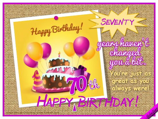 Seventy Years!