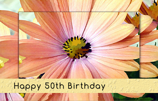 50th Birthday Gerbera Daisy Flower Free Milestones Ecards
