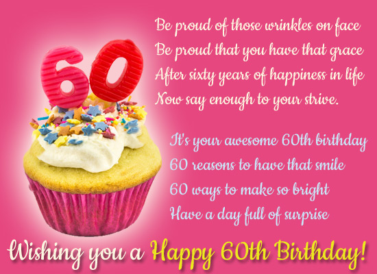 It's Ur Awesome 60th Birthday! Free Milestones ECards