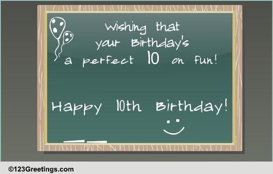Happy 10th Birthday Free Milestones Ecards Greeting