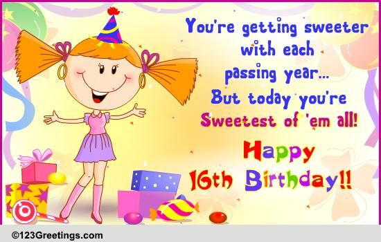 Have A Rockin 16th Birthday Free Milestones Ecards