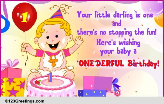 A Onederful Birthday Free Milestones eCards Greeting Cards – First Birthday Greeting Messages