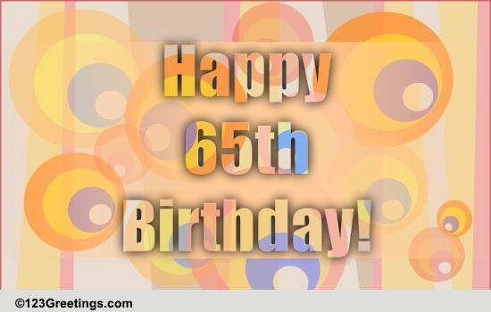 Fun 65th Birthday Wish Free Milestones ECards Greeting Cards
