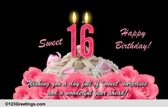 Sweet 16 Free Milestones Ecards Greeting Cards 123