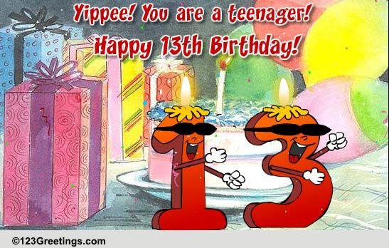Happy Birthday Teenager Free Milestones ECards Greeting Cards