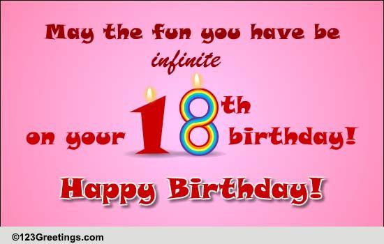 18th Birthday Wish! Free Milestones eCards, Greeting Cards | 123 ...