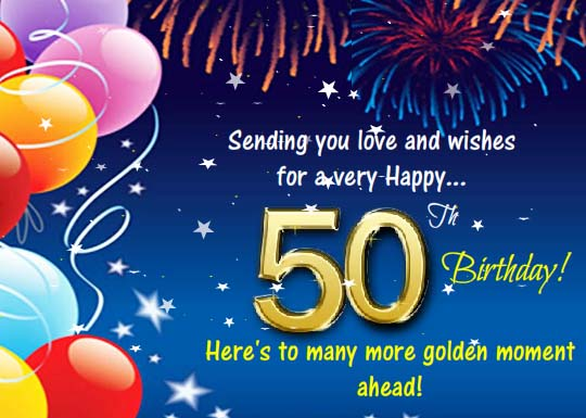 Happy 50th Birthday Wishes Free Milestones eCards Greeting – Tf2 Birthday Card