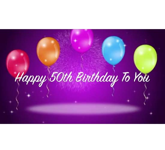 Happy 50th Birthday Wishes For You. Free Milestones ECards