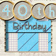 40th Birthday With Modern Collage.