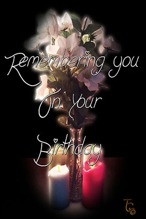 Remembering You Birthday Card