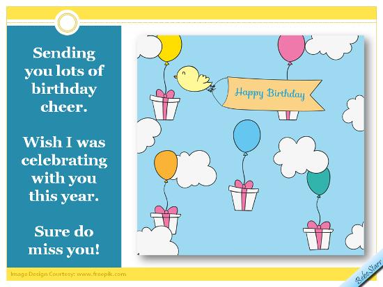 Sending Birthday Cheer.
