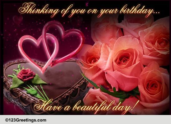 Thinking Of You On Your Birthday Free Miss You eCards Greeting – Greetings.com Birthday
