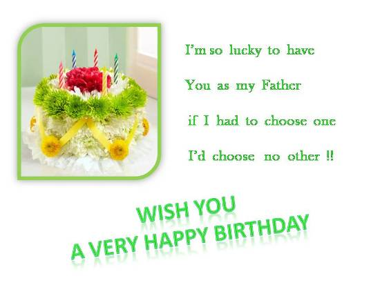 Wish Your Dear Dad On His Birthday.