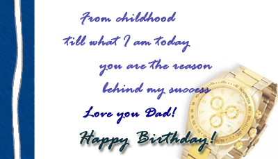 Happy Birthday To My Dad