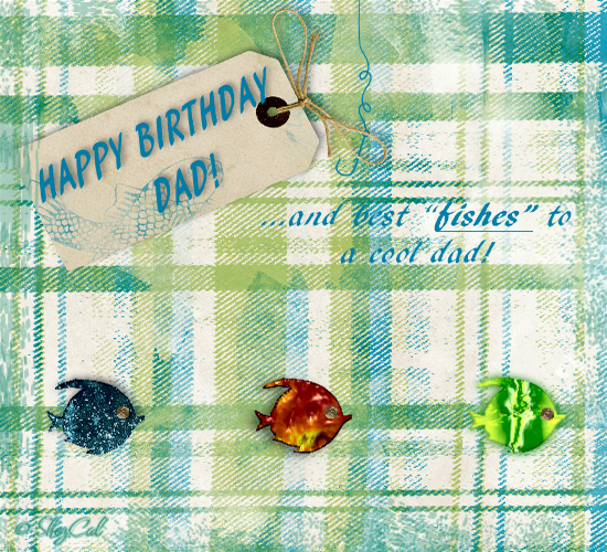 Happy Birthday Fish. Free For Mom & Dad ECards, Greeting