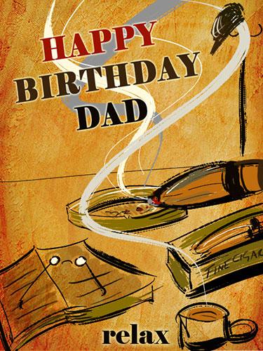 Happy Birthday Dad With A Fine Cigar! Free For Mom & Dad ...