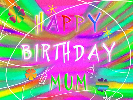 Happy Birthday Mum In Joyful Text Free For Mom Amp Dad