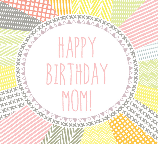 Happy Birthday Mom Abstract Pattern