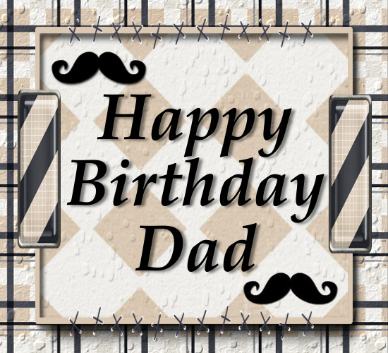 Masculine Birthday Card For Dad.