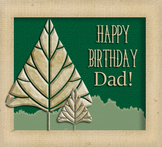 Happy Birthday Tree For Dad!