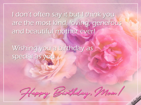 Funny Birthday Ecards For Mom ~ You are the best! free for mom & dad ecards greeting cards 123