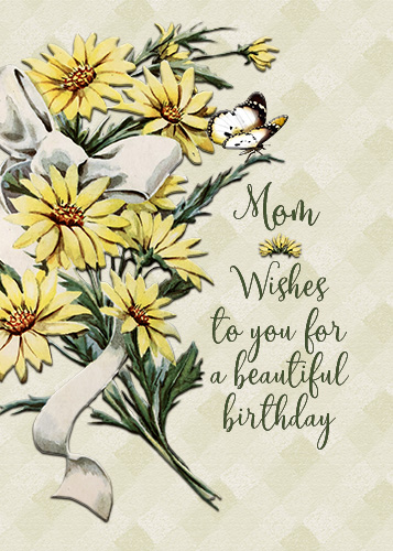 Happy Birthday Mom Vintage Flowers Free For Mom Dad Ecards 123