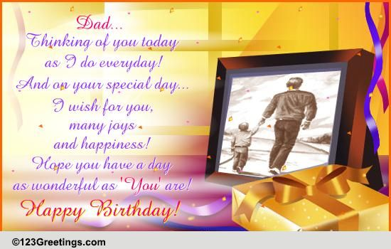 Happy Birthday Cards For Dad From Daughter gangcraftnet – E Greeting Cards Birthday