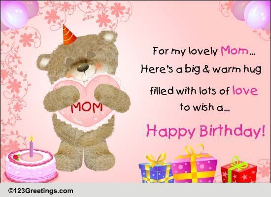 Happy Birthday To My Mom. Free For Mom & Dad eCards, Greeting ...
