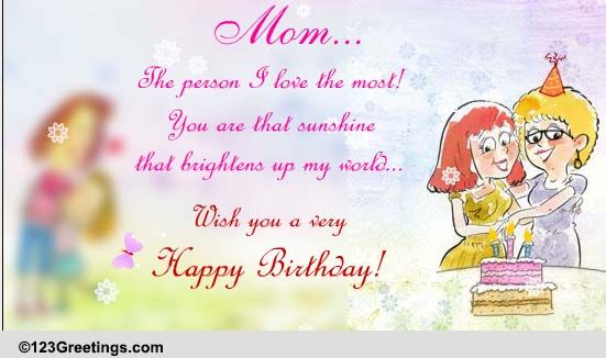Happy Birthday Mom Free Mom Dad eCards Greeting Cards – Happy Birthday Mom Greetings