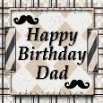 Masculine Birthday Card For Dad.