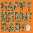 A Camo Birthday For Dad.