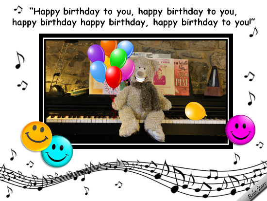 Singing Birthday Bear Free Smile ECards Greeting Cards