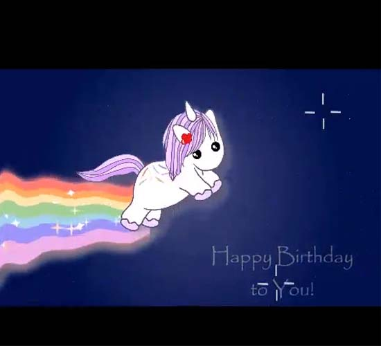 Funny Co Worker Birthday Quotes: Unicorn Funny Birthday Wishes. Free Smile ECards, Greeting
