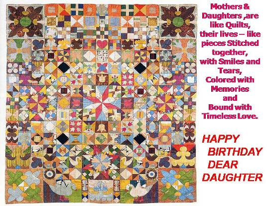 ... and love for your beloved daughter with this card on her birthday