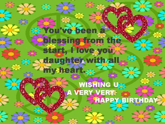 Greetings On Daughter's Birthday.