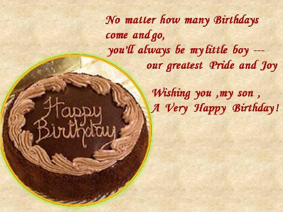 Birthday Wishes For A Dear Son Free Son Daughter eCards – Birthday Greeting for Son
