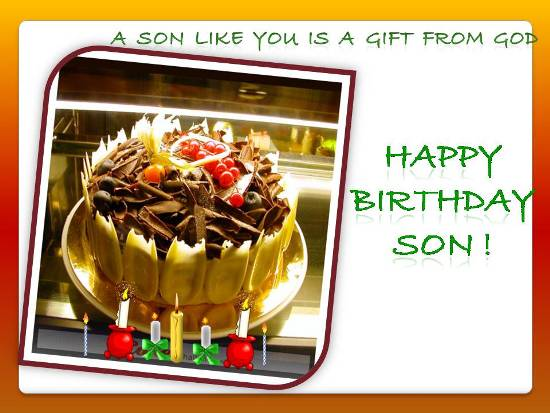 Birthday Wishes For Ur Dear Son Free Son Daughter eCards – Birthday Greeting for Son